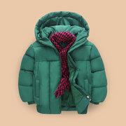 Meninos Downs Parkas Crianças Cor Sólida Casaco de Inverno Com Capuz Para 4Y-13Y