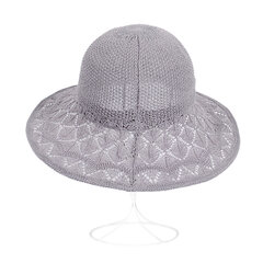 Womens Foldable Summer Breathable Anti-UV Mesh Fisherman Hat Outdoor Travel Sunscreen Bucket Hat