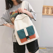 Schoolgirl Harajuku Ulzzang High School Students Color Matching Bag Female Large Capacity Backpack