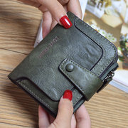 Women Vintage PU Leather Wallet Trifold Retro Purse Coin Bags