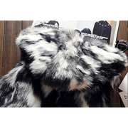 Mens Faux Fur Hooded Jacket Winter Thickened Warm Fashion Casual Fur Vest