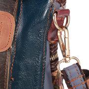 نساء حقائب جلدية حقيقية المنسوجة دلو حقائب البوهيمي اليدوية Crossbody