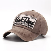 Men Vintage Adjustable Embroidery Washed Cotton Hat Outdoor Sports Climbing Baseball Cap