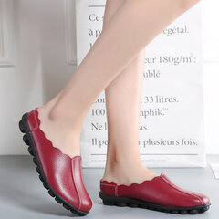 Large Size Comfortable Slip On Soft Flat Backless Loafers