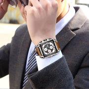 Unique Style Men Wrist Watch Chronograph Date Luminous Number Quartz Watch