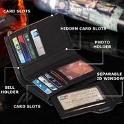 11 Card Holders Vintage PU Leather Zipper Coin Bag Casual Wallet For Men
