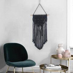 100% Baumwolle böhmischen einfarbig handgefertigt Makramee Wandbehang gewebt Wandkunst Dekor Makramee Wandteppich
