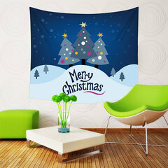Christmas Tapestry Landscape Forest Snowflake Wall Hanging SStar Moon Bohemian Wedding Decor Blanket