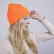 Women Solid Color Stripe Beanie Cap Casual Ear Protection Windproof Warm Hats Fashion Cap