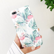 Women Simple Colorful Flamingo Soft Back Cover Anti-fall iPhone Phone Case