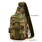 Women Waterproof Chest Bag Outdoor Casual Nylon Crossbody Bag