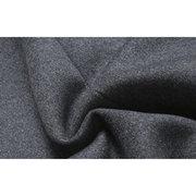 Мужская зимняя теплая Тонкий Середина длинного пальто Воротник сплошного цвета с длинным рукавом флисовое пальто