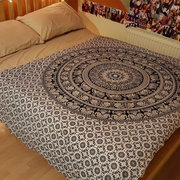 145X210CM Indian Tapestry Wall Hanging Mandala Throw Hippie Twin Bedspread Gypsy Decor Blanket
