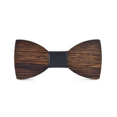 Mens Wood Print Bowtie Casual Wedding Party Bow Ties Vogue Vintage Tie