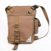 Canvas Riding Leg Bag Outdoor Crossbody Bag Multi Pocket Waist Bag For Men