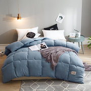 2.5/3/4kg Washed Cotton Quilt Feather Fabric Stuffed Thicken Breathable Duvet Winter Comforter