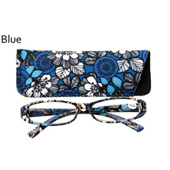 Women's Ultra-portable Printing Small Frame Reading Glasses Matching Small Bag