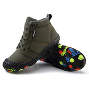 Outdoor Waterproof Colorful Sole Warm Lining Snow Boots For Youth Kids