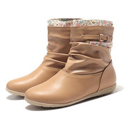 Buckle Slip On Short Ankle Boots