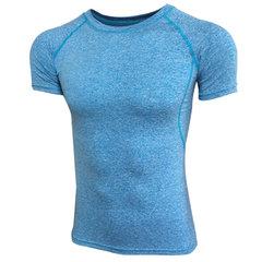 Verano para hombre Delgado Fit Gym Manga corta Camisa Redondo Cuello Tops de entrenamiento de culturismo