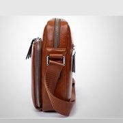Sac à bandoulière en PU pour homme d'affaires Sac à bandoulière Messenger Bag