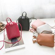 Mulheres Pure Color PU Couro Bucket Bags Bolsas De Ombro Crossbody Bags