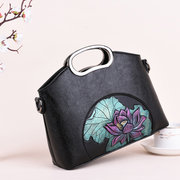 Tracolla in pelle similpelle vintage incisa a mano Borsa