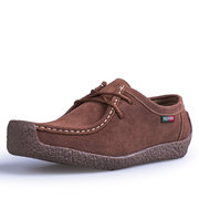 Men's Modern Classic Moc Toe Soft Sole Lace Up Flat Casual Shoes
