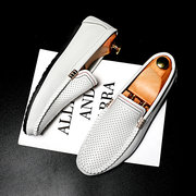 Men Hollow Out Comfy Slip On Soft Sole Driving Casual Loafers
