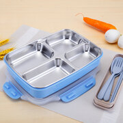 Stainless Steel Lunch Box Nordic Color 3/4/5 Grids Dinnerware Students Outdoor Food Container