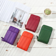 Women PU leather Clutch Bag Card Bag Phone Bag Crossbody Bag