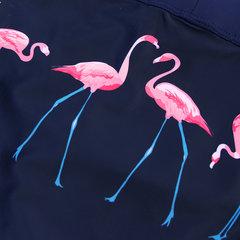 Maillot de bain imprimé noir pour hommes Flamingo à séchage rapide