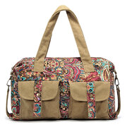 Brenice Vintage National Style Canvas Casual Crossbody Shoulder Bag For Women