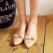 Bowknot Soft Pointed Toe Slip su piatto piegato Ballet Ball Roll Uova