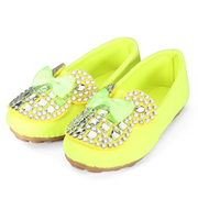 Zapatos de niña Arco Zapatillas Sparkle Rhinestone Kids Slip On Deck Shoes