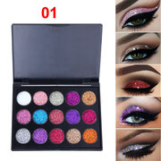 15 Colors Glitter Eyeshadow Palette Long-Lasting Glitter Eye Shadow Diamond Eyeshadow Palette