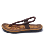 Men Roma Style Color Blocking Light Weight Casual Beach Sandals