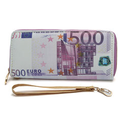 Women Men Money Design Portefeuille à fermeture éclair