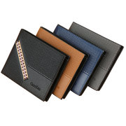 Men PU Leather 8 Card Slot Short Wallet Casual Wallet