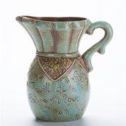 Vaso da fiori in stile retrò Vaso da fiori in legno dipinto a mano
