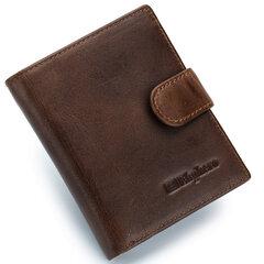 Ekphero Couro Genuíno curto carteiras Vintage Zipper bolsa moeda sacos para homens