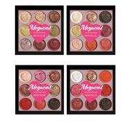 9 Cores Sombra de Sombra Paleta Glitter Shimmer Maquiagem com Sombra de Olhos em Forma de Coração