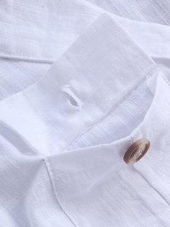 Camisas del vintage del color sólido del cuello en v del cuello