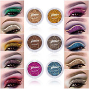 12 cores Glitter Sombra Diamante Shimmer Eye Shadow Stage Maquiagem Dos Olhos Comestic