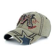 Mens M Letter Cotton Canvas Washed Бейсболка Личность Наружная Спорт Путешествия Sun Hat