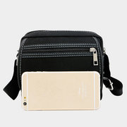 Men Oxford Crossbody Bag Patchwork Messengers Bag Shoulder Bag