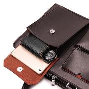 Men Business Handbag Multi-pockts Crossbody Bag