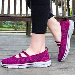 Couleur pure évider confortable chaussures décontractées plates pour les femmes