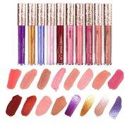 Brilho Lip Gloss Diamante Shimmer Liquid Lipstick Long-Lasting Lipgloss Lip Maquiagem Cosméticos