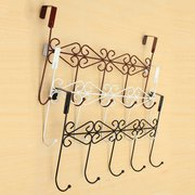Creative Over Door Bathroom 5 Hooks Hanger Hanging Rack Holder Bathroom Hooks